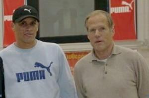 Horst Wein con Rivaldo (FIFA World Placer) en un curso en Athenas 2005